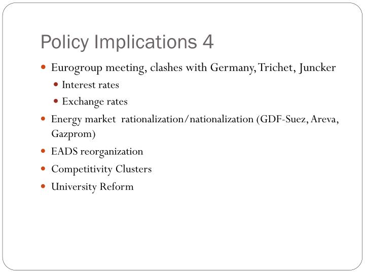 Policy Implications 4