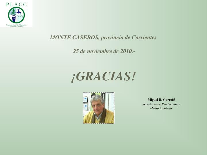 MONTE CASEROS, provincia de Corrientes