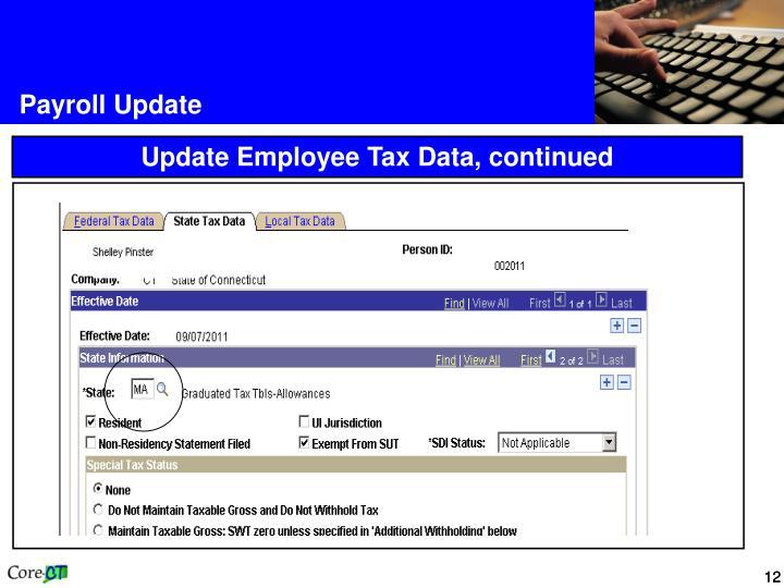 Payroll Update