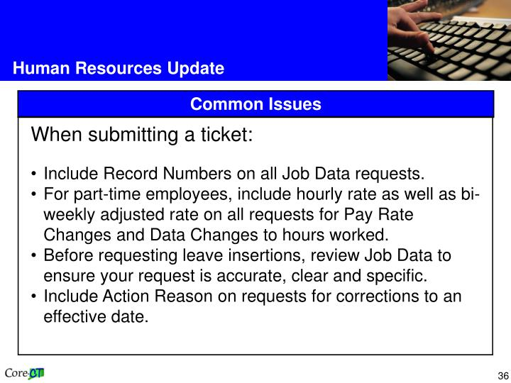 Human Resources Update