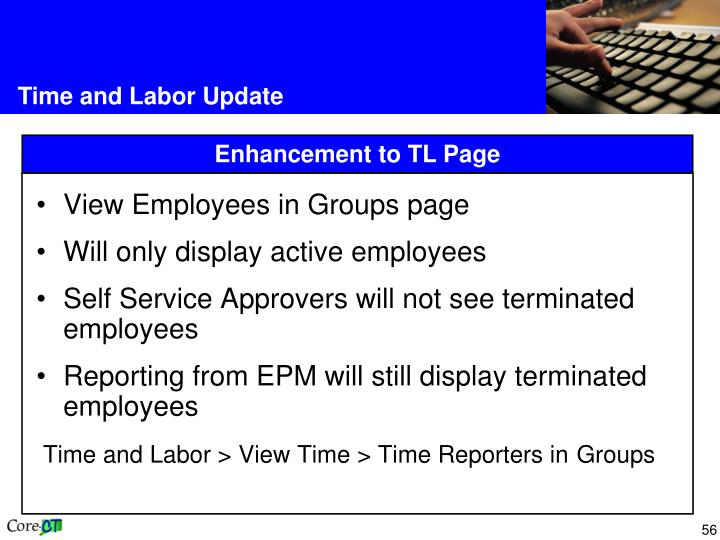 View Employees in Groups page