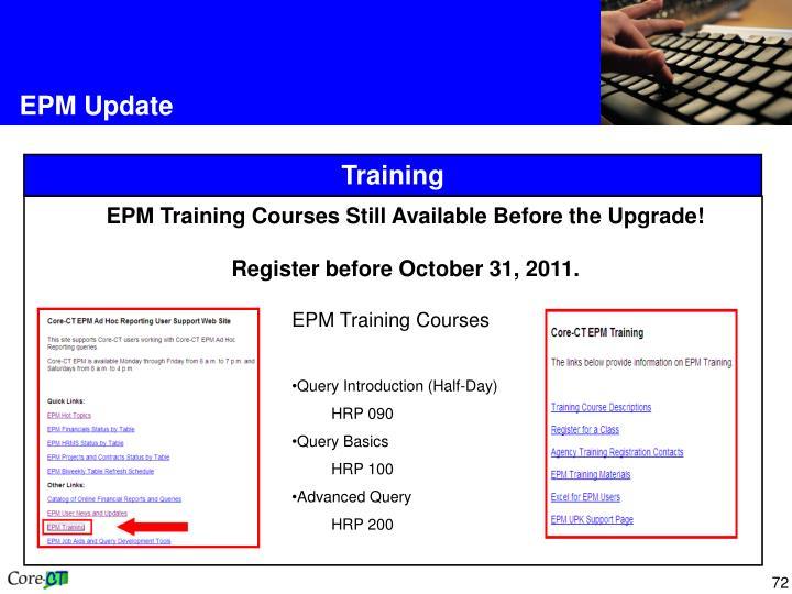 EPM Update