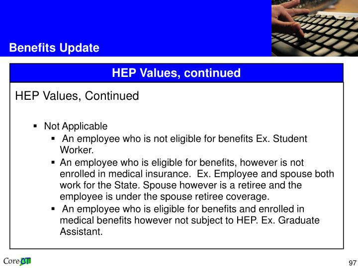 Benefits Update