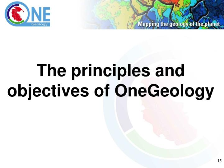 The principles and objectives of OneGeology