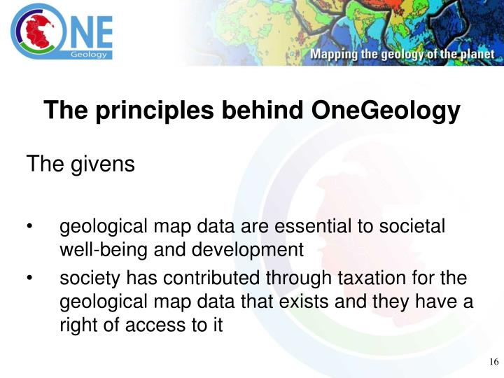 The principles behind OneGeology