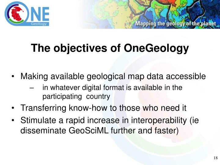 The objectives of OneGeology