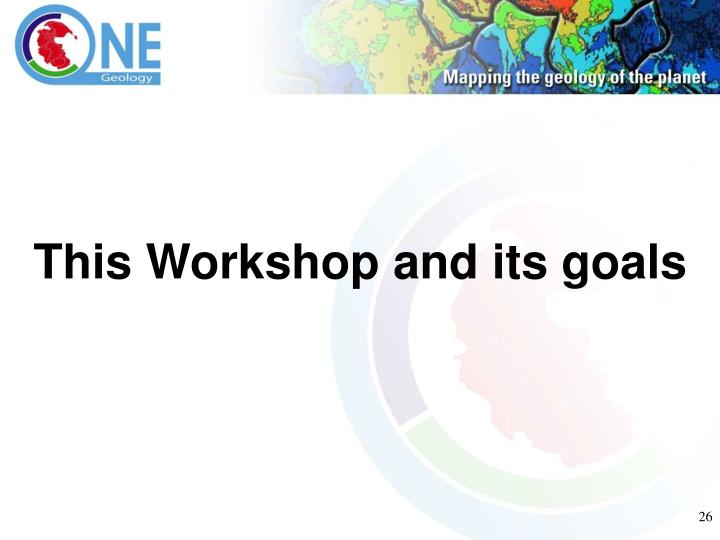 This Workshop and its goals