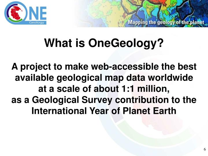 What is OneGeology?