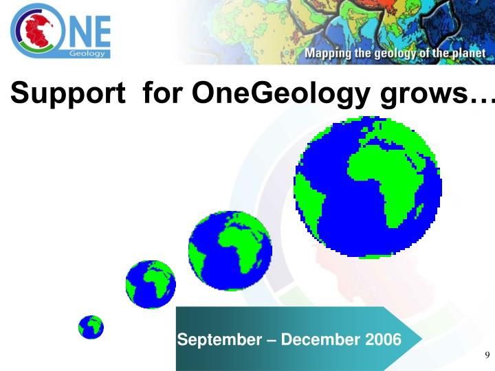 Support  for OneGeology grows…