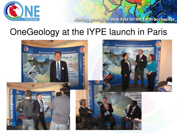 OneGeology at the IYPE launch in Paris