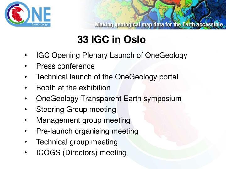 33 IGC in Oslo