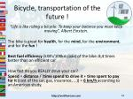 bicycle transportation of the future