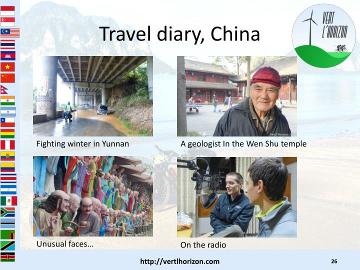 Travel diary, China