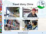 travel diary china