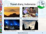 travel diary indonesia