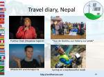 travel diary nepal