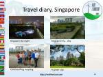 travel diary singapore