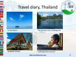 travel diary thailand