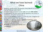 what we have learned china