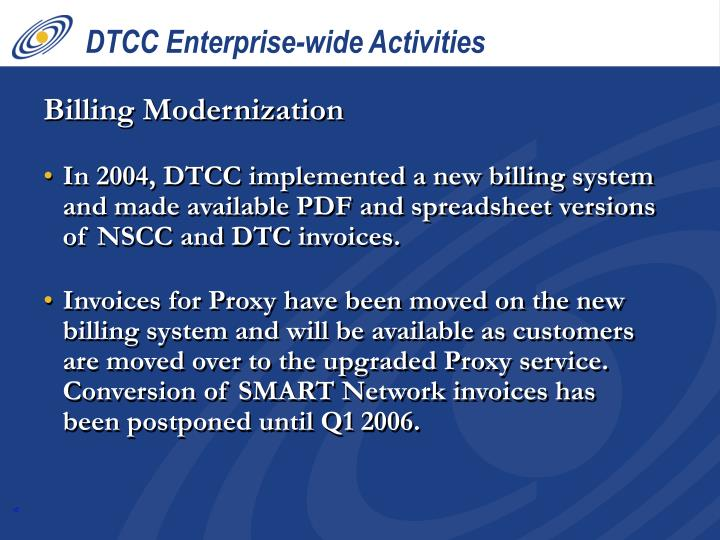 DTCC Enterprise-wide Activities