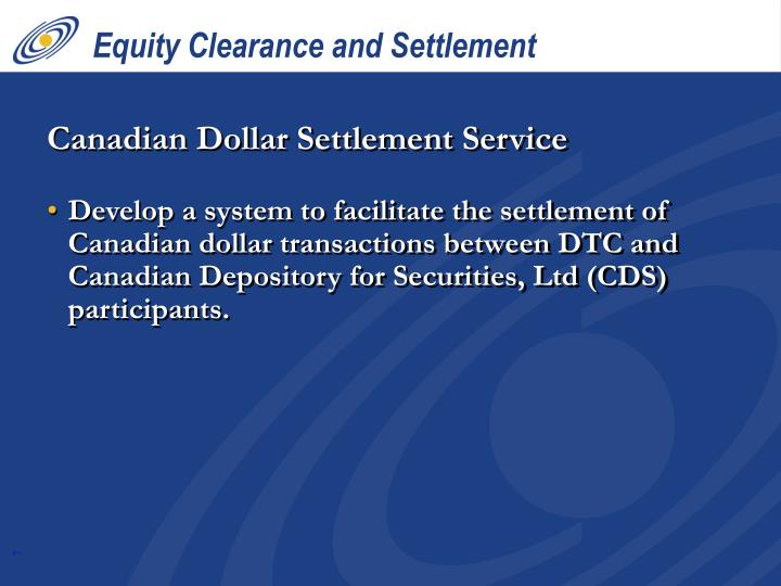 Equity Clearance and Settlement