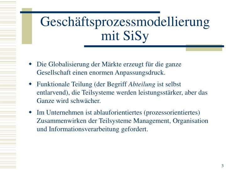 Geschäftsprozessmodellierung mit SiSy