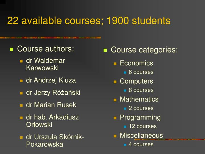 Course authors: