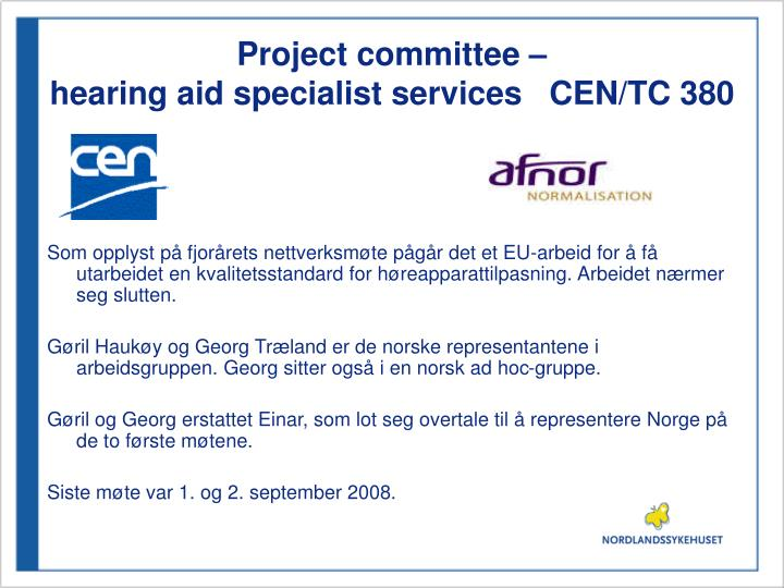 Project committee –