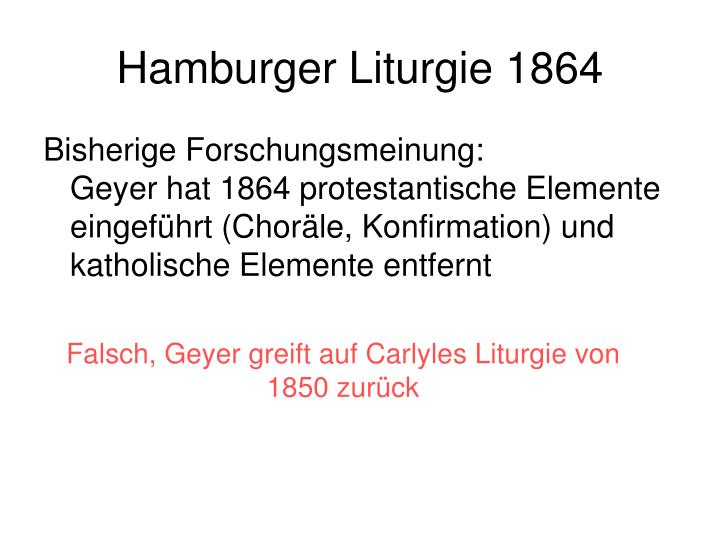 Hamburger Liturgie 1864