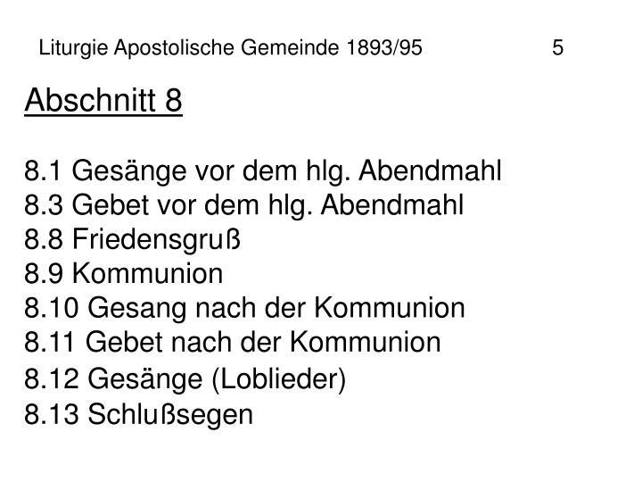 Liturgie Apostolische Gemeinde 1893/95 5