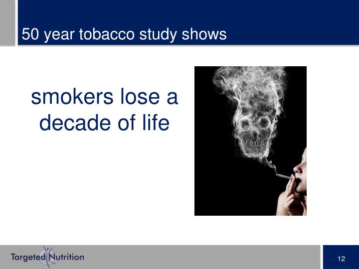50 year tobacco study shows