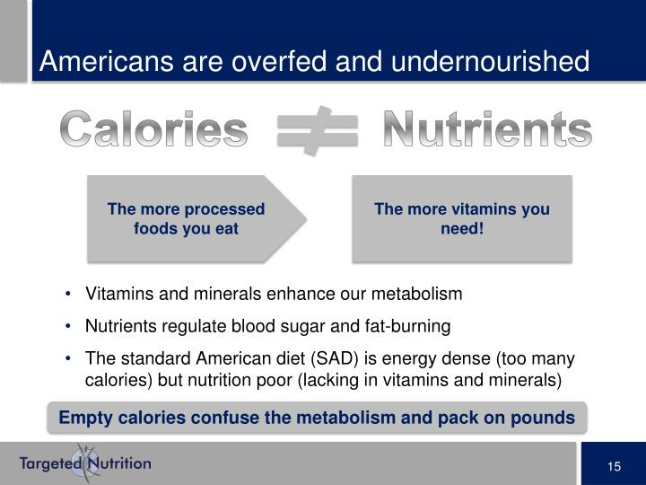 Americans are overfed and undernourished
