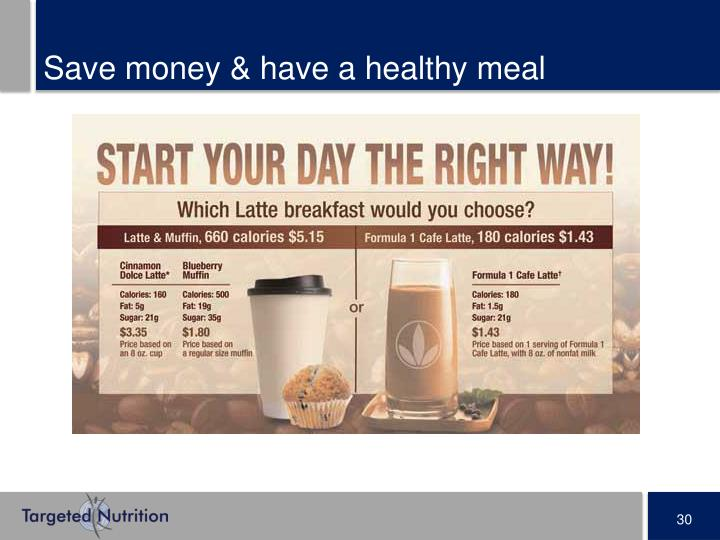 Save money & have a healthy meal