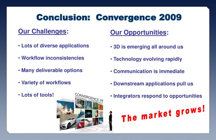 Conclusion:  Convergence 2009