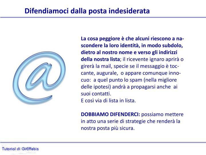 Difendiamoci dalla posta indesiderata