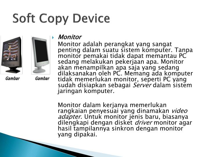 Soft copy device