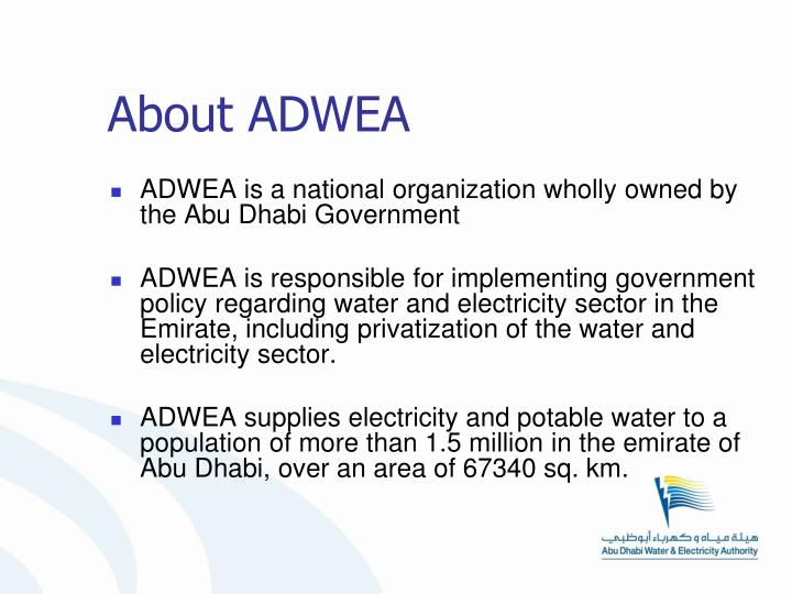 About ADWEA