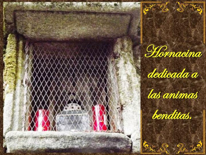Hornacina dedicada a las animas benditas.