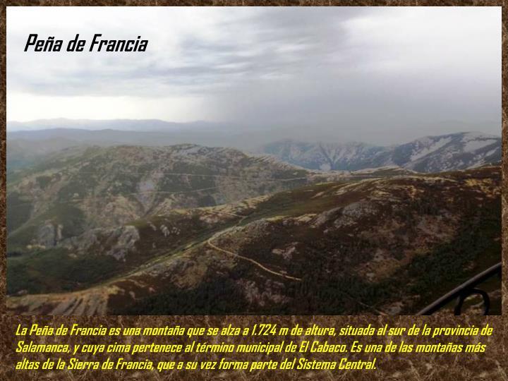 Peña de Francia