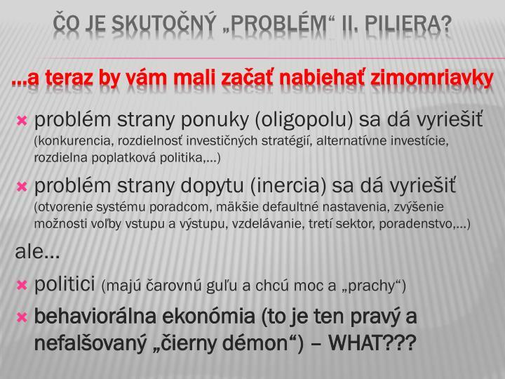 problém strany ponuky (oligopolu) sa dá vyriešiť