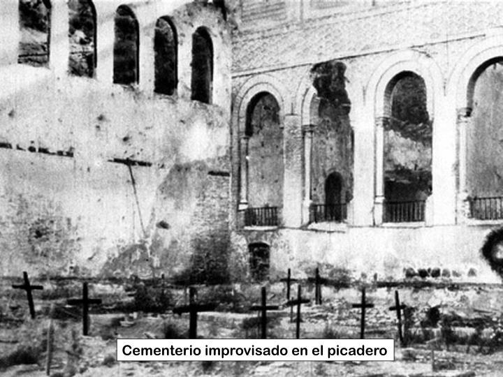 Cementerio improvisado en el picadero