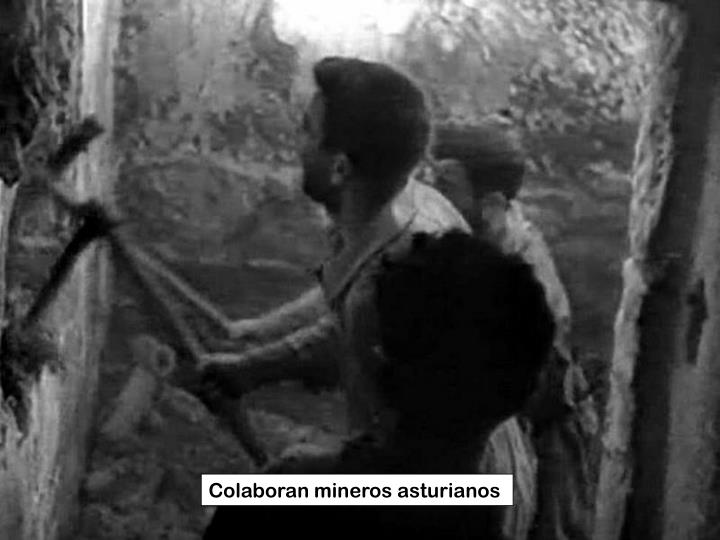 Colaboran mineros asturianos