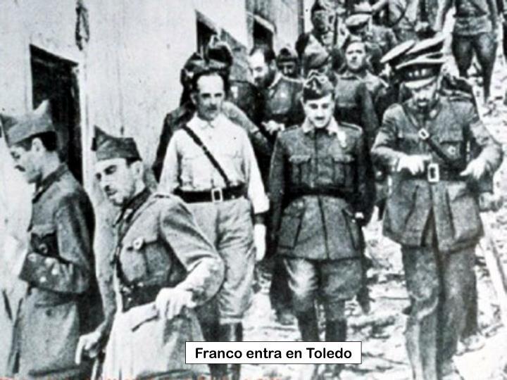 Franco entra en Toledo