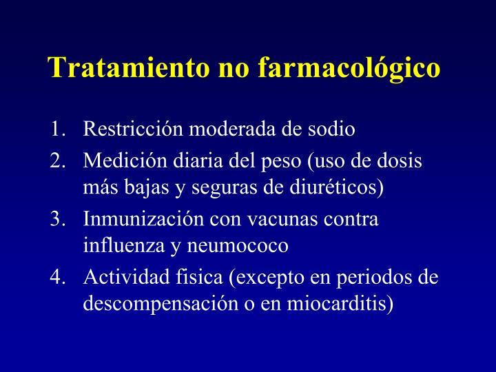 Tratamiento no farmacológico
