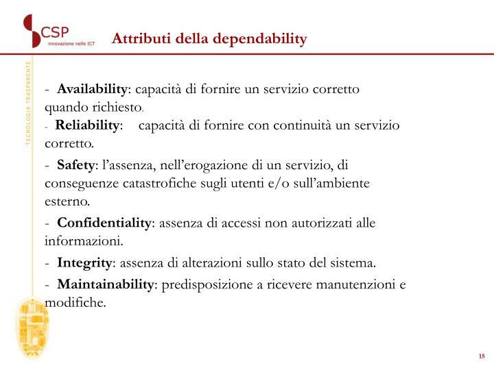 Attributi della dependability