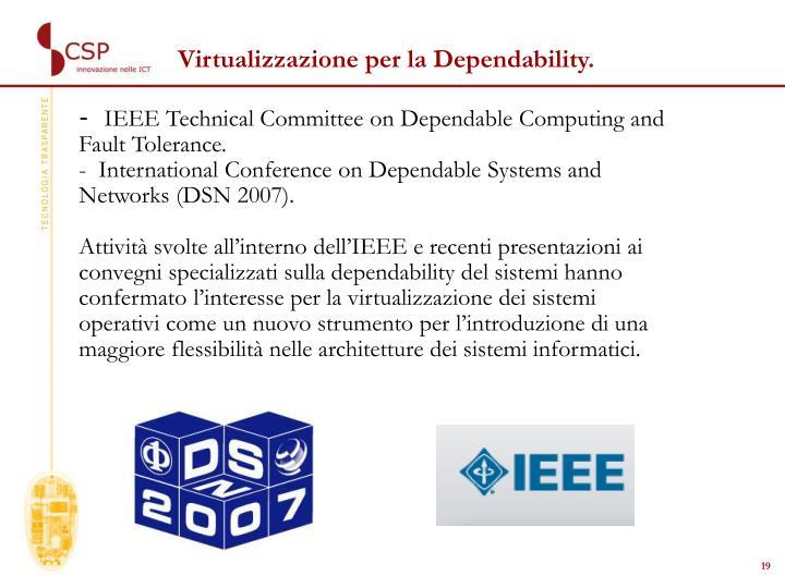Virtualizzazione per la Dependability