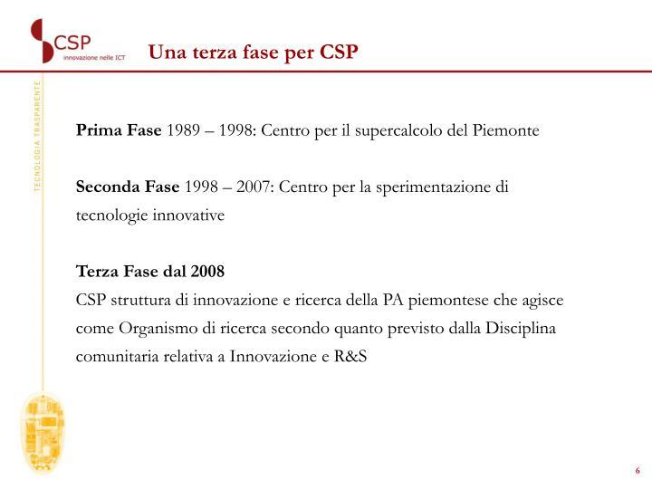 Una terza fase per CSP