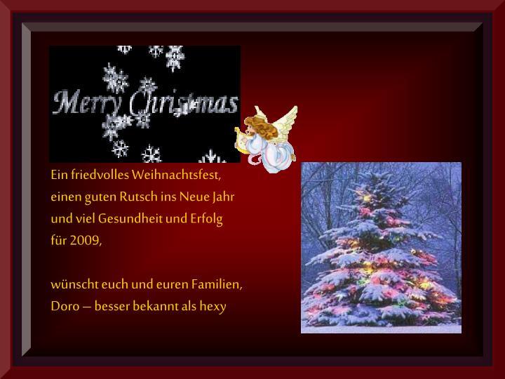 Ein friedvolles Weihnachtsfest,