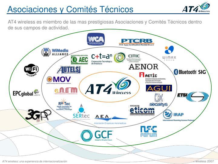 Asociaciones y Comités Técnicos