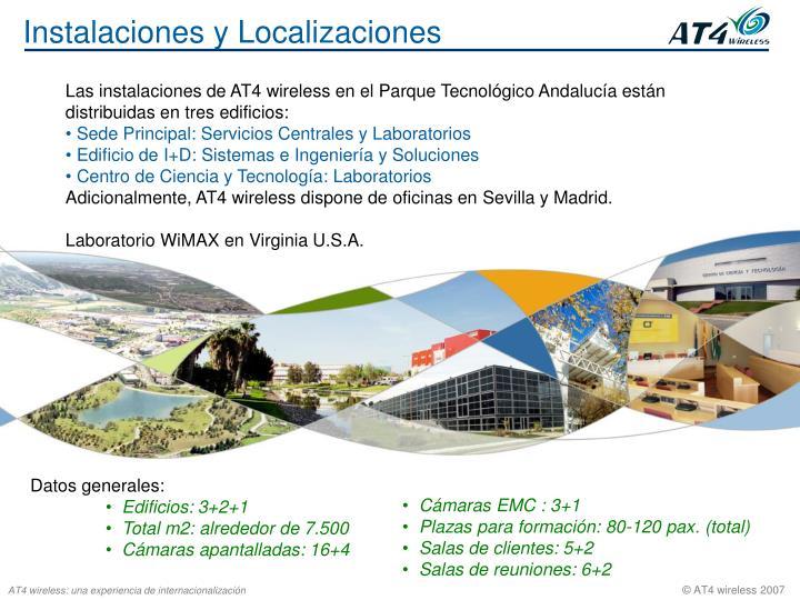 Instalaciones y Localizaciones
